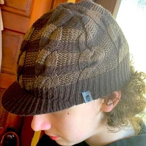 The North Face cable knit brimmed knit hat